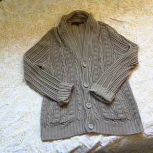 Mens Beige Urban Outfitters Loose Cable Sweater